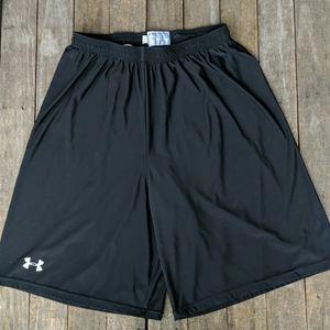 Under Armour black men's athletic shorts Large
